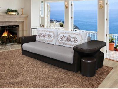диван трансформер со столом цена фото